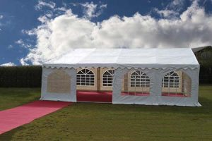 6m x 8m 500gsm PVC Commercial Marquee