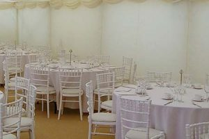 Marquee Flat Wall Linings – Fitted – BS Fire Retardant
