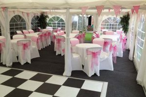 Marquee Curtain Linings – Fitted – BS Fire Retardant