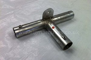 Part 11 – Marquee Roof Flat Joint 3 Way 38mm Galvanised