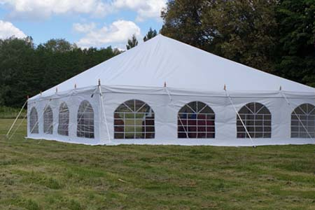 9m x 18m Traditional Style Marquee Erected