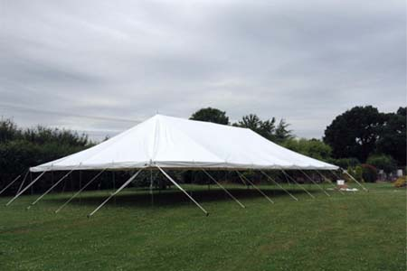 9m x 18m Traditional Style Marquee Erecting