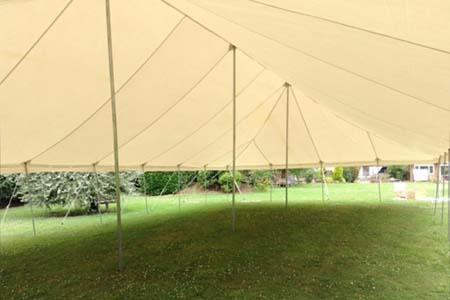 9m x 18m Traditional Style Marquee No Sides