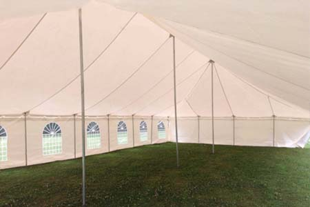 9m x 18m Traditional Style Marquee Inside